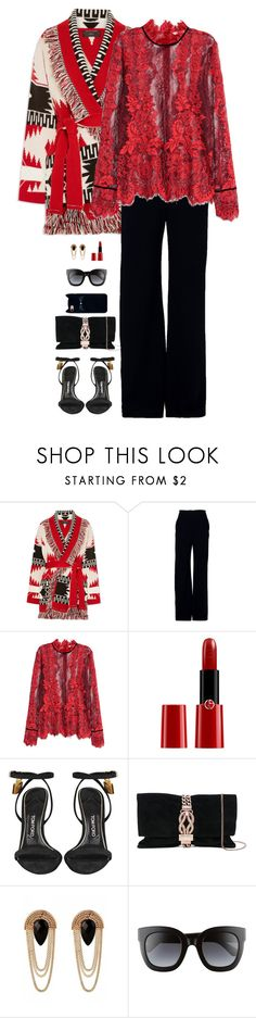 """""""Untitled #9252"""" by miki006 ❤ liked on Polyvore featuring Alanui, Brandon Maxwell, Giorgio Armani, Tom Ford, Jimmy Choo and Gucci"""