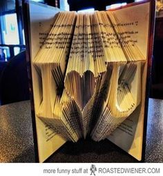 I'd kill whoever did this. They cut up a book!