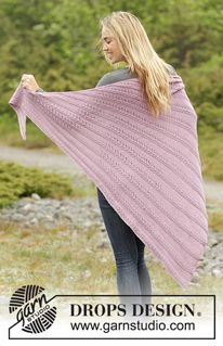 Free Knitting Pattern for a Lace Shawl Pink Cascade. Skill Level: Intermediate Knitted shawl with lace pattern in worked from side to side. Free Pattern More Patterns Like This! Prayer Shawl Patterns, Lace Patterns, Knitting Patterns Free, Free Knitting, Crochet Patterns, Free Pattern, Knitted Poncho, Knitted Shawls, Crochet Scarves
