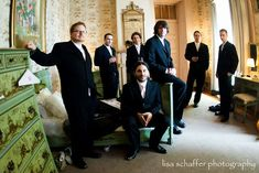 groomsmen with groom | I love this shot. This is the room in… | Flickr