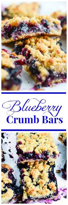 These sweet Blueberry Crumb Bars are made with fresh, sweet blueberries and a buttery crumb topping, and are perfect for a dessert or snack. ~ http://FlavorMosaic.com