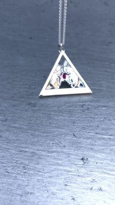 Onesoul Woman to Man Silver Pendant with Pink Tourmaline Gemstone