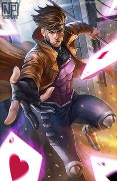 Gambit - X-Men - Image - Zerochan Anime Image Board Comics Anime, Marvel Comics Art, Marvel Heroes, Marvel Characters, Captain Marvel, Gambit Marvel, Gambit X Men, Rogue Gambit, Dragon Warrior
