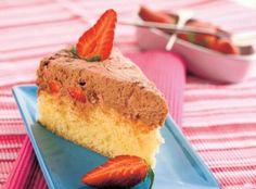 Trasená jahodová torta