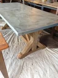 Amazing Cedar And Zinc Table Spotted At Round Top, Texas