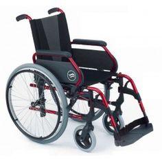 Silla de ruedas en aluminio Breezy 300 color rojo. #antiescaras. #Silladeruedas #movilidad #accesibilidad #escaras #terceraedad #mayores #discapacidad #ortopedia #ortopediaplus #Wheelchair