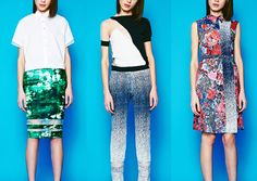 Nonoo – Pre Fall 2014-Abstract Digital Pattern  - Textured Prints – Mineral and Digitalised Florals - Ombré Effects – Mottled Pattern Plays