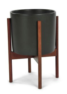 $189. 'Case Study Ceramic Cylinder Planter With Wood Stand by Modernica. @2Modern'