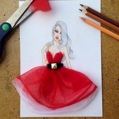 This Artist Uses Everyday Objects To Make Fashion Sketches, And The Results Are…