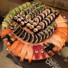 [Homemade] Sushi plate I made with my SO. #recipes #food #cooking #delicious #foodie #foodrecipes #cook #recipe #health