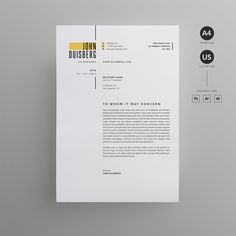 Resume/CV by Reuix Studio on Creative Market - Resume Template Ideas of Resume Template - Resume/CV by Reuix Studio on Creative Market Graphic Design Resume, Letterhead Design, Resume Design Template, Cv Template, Resume Templates, Interior Design Resume, Resume Layout, Resume Cv, Portfolio Web