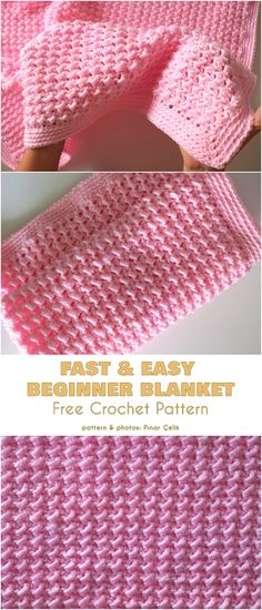 Beginner Blanket Free Crochet Patterns Sometimes it's difficult. Beginner Blanket Free Crochet Patterns Sometimes it's difficult to get going wit One Skein Crochet, Easy Crochet Blanket, Crochet For Beginners Blanket, Baby Afghan Crochet, Crochet Baby Blanket Free Pattern, Afghan Crochet Patterns, Baby Afghans, Easy Crochet Baby Blankets, Easy Blanket Knitting Patterns