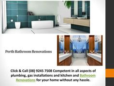 http://theplumbingandgasguys.com.au/renovations Click & Call (08) 9245 7508 Competent in all aspects of plumbing, gas installations and kitchen and Bathroom Renovations for your home without any hassle.