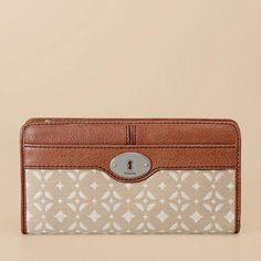FOSSIL® Handbag Silhouettes Wallets:Handbag Silhouettes Maddox Zip Clutch SL3131