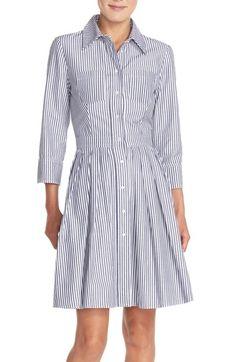 Eliza J Stripe Cotton Shirtdress (Regular   Petite)   Nordstrom.  ChemiseRobes ... c6a709741672