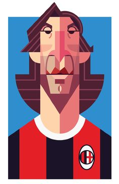 Famous Football Playmaker Illustration by Daniel Nyari http://iamdany.com/