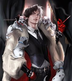 Read Chris ( Cruella de Vil - 101 Dalmatians) from the story Disney Genderbend by PastelCure (C. Gender Bent Disney, Disney Gender Swap, Disney Fan Art, Disney Love, Disney E Dreamworks, Disney Pixar, Disney Pocahontas, Funny Disney, Disney Cartoons