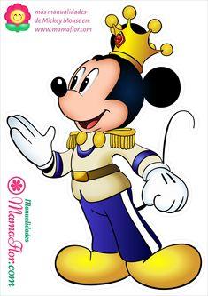 Mickey Mouse Rey Principe descargar en alta calidad para imprimir Mickey Mouse Design, Fiesta Mickey Mouse, Mickey Mouse And Friends, Disney Mickey Mouse, Minnie Mouse, Prince Birthday Party, 1st Boy Birthday, Mickey Mouse Imagenes, Michey Mouse
