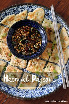 Haemul  Pajeon: galette coréenne aux fruits de mer- korean seafood pancake