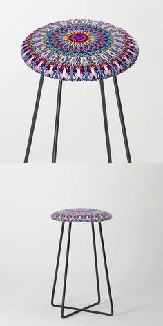 Fantasy Flower Garden Mandala Counter Stool by David Zydd #BestCounterStools #MandalaCounterStool #Chair #Mandala #MandalaArtwork #Decor (tags: floral, geometrical, mandala, stool, mandala stool, meditate, floral art, gift, mandala art, garden, mandala graphic, counter stool, ornament, apartment, abstract, mandala home design, home decoration)
