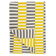 Buy Steel House by John Lewis Dominoes Throw, Steel from our Throws, Blankets & Bedspreads range at John Lewis & Partners. Uni Bedroom, Yellow Online, Steel House, Well Thought Out, Living Room Inspiration, Kitchen Inspiration, Mellow Yellow, Soft Furnishings, Home Buying