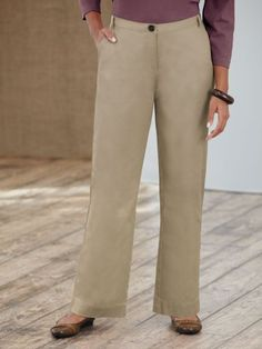 Ulla Popken Stretch Twill Button Pant $59.00 - $64.00