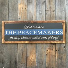 Thin Blue Line Blessed are the Peacemakers by CaliforniaRustic