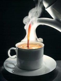 Hot steaming cup of Coffee ♡ Coffee ♡ Coffee ♡ Coffee ~ Hot steamy coffee ~ A cup of comfort ~ Comfort in a cup ~ Love coffee ~ Coffee love!!!