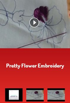 Pretty flower embroidery Flower Embroidery, Pretty Flowers, Art, Craft Art, Beautiful Flowers, Kunst, Gcse Art, Sanat