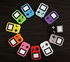 Perler Beads GameBoy Fridge Magnets!
