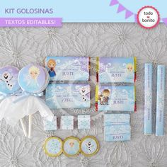 Frozen: kit etiquetas de golosinas - Todo Bonito