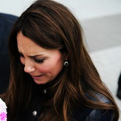 Is HRH crying or laughing ? preggerrrs...we know, girl. With all due respect.