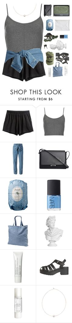 """""""♡"""" by scattered-parts ❤ liked on Polyvore featuring H&M, Topshop, DKNY, By Malene Birger, NARS Cosmetics, Fresh, Laura Mercier, Windsor Smith, Chantecaille and Shop Latitude Bazaar"""