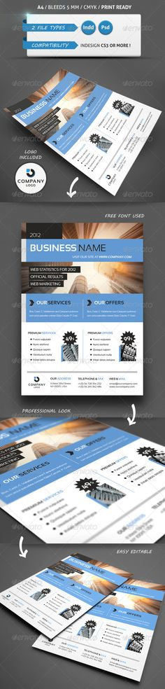 MODERN BUSINESS FLYER TEMPLATE A4 - GraphicRiver Item for Sale