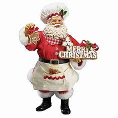 """Kurt Adler 10"""" Fabriche' Gingerbread Santa"""