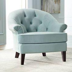 Kash Beau Blue Armchair - #4C433 | Lamps Plus