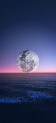 خلفيات القمر خلفيات قمر وليل خلفيات قمر وبحر للموبايلات أحلي صور القمر للهواتف الذكية الايفون والأندرويد خلفيات قمر Mobile Wallpaper Wallpaper Celestial