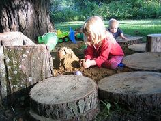 Stumps... I need stumps for my kids to climb on!