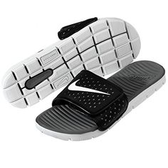 new style b774e 09aa4 Nike Mens Flex Motion Slide BlackWhiteCool Grey Sandal 9 Men US     See  this great product.