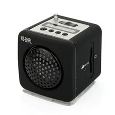 WS-909RL Mini Portable USB Rechargeable Music Speaker with U-Disk/MMC Card/FM $11.68