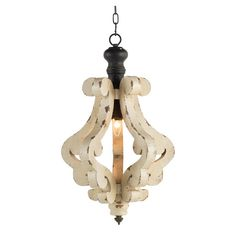 Harper One-Light Chandelier - Antique White - Small - Walmart.com - Walmart.com