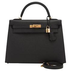 Hermes Black Epsom Sellier Kelly 32cm Gold Hardware 1