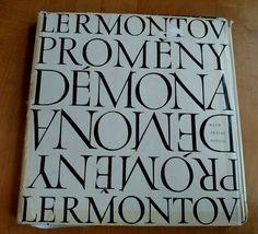 Vintage Michail Lermontov Demon Poem  In Czech 1967