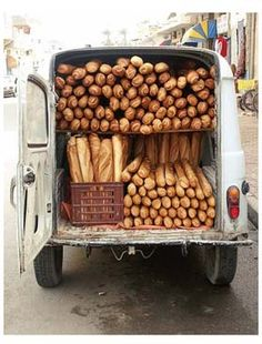 Love it. French bread wagon delivery service.
