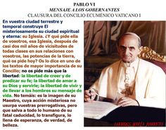EN ESPAÑOL, PABLO VI MENSAJE A LOS GOBERNANTES CLAUSURA DEL CONCILIO ECUMÉNICO VATICANO I. Parte 3. https://instagram.com/p/9YqQuTiZwF/