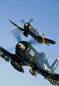 Military and Aviation Ww2 Aircraft, Fighter Aircraft, Military Aircraft, Fighter Jets, Military Jets, F4u Corsair, Image Avion, Photo Avion, Old Planes
