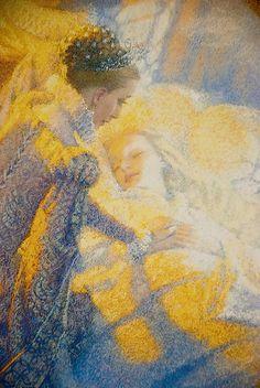 Sleeping Beauty retold by Adele Geras, illustrated by Christian Birmingham : jeannygrey