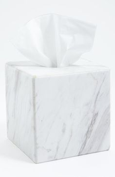 Waterworks Studio 'Luna' White Marble Tissue Cover (Online Only) available at #Nordstrom