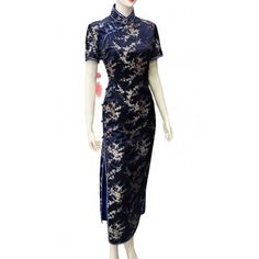 Tailor Made Short Sleeve Plum Blossom Cheongsam Dress #dress #cheongsam #ready to wear