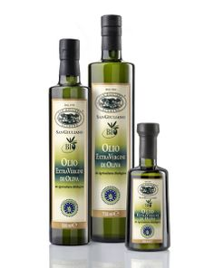 San Giuliano Organic Oil San Giuliano Organic Extra Virgin Olive Oil is produced under the direct control of the ICEA (Ethical and Environmental Certification Institute). Since the early 1990s, all the San Giuliano olive groves have been cultivated using organic methods to promote rural sustainability. http://sangiuliano.it/prodotti_detail.php?ID=54&Tipologia=oli